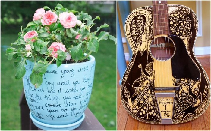 Несколько красивейших предметов быта, декорированных с помощью обычного перманентного маркера.