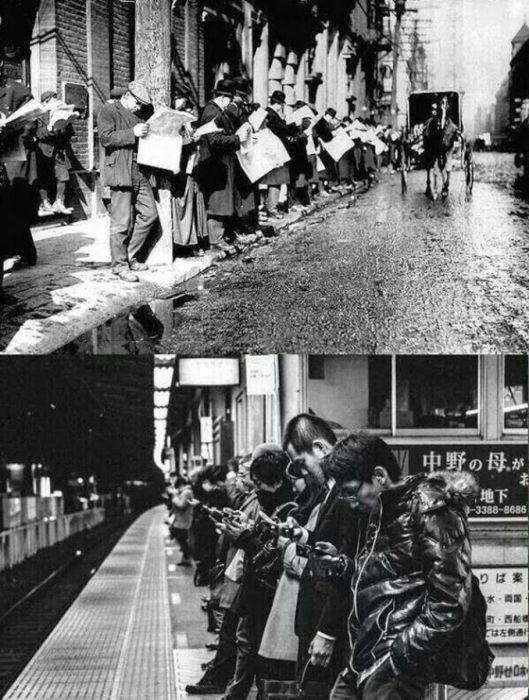 Газеты против смартфонов.