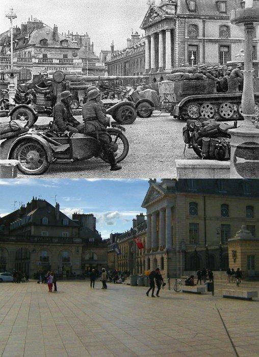 Немецкие войска собрались напротив Дворца бургундских герцогов.