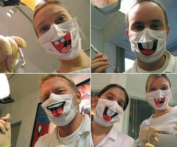 Такая маска вряд ли поможет расслабиться в стоматологическом кресле.