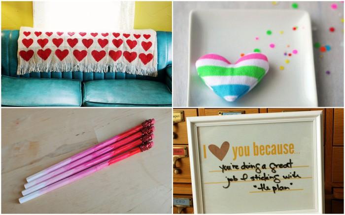 Собственноручно сделанные подарки ко Дню влюбленных.
