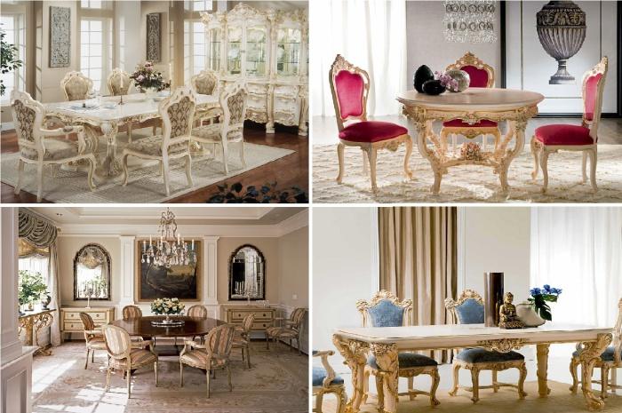 Роскошные столовые комнаты в викторианском стиле.