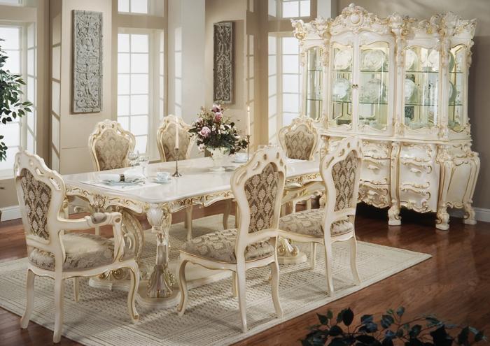 Утонченный дизайн столовой комнаты.