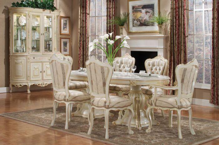 Роскошный дизайн великолепной столовой.