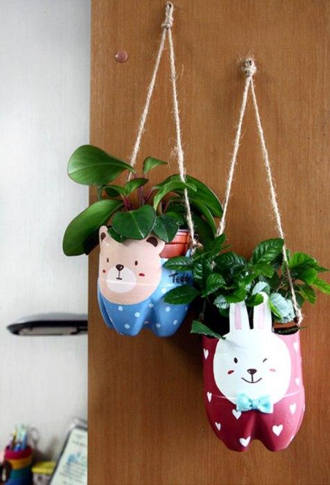 Милые парящие кашпо для домашних растений.