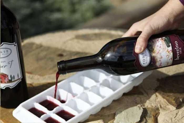 Замороженное вино для коктейлей.
