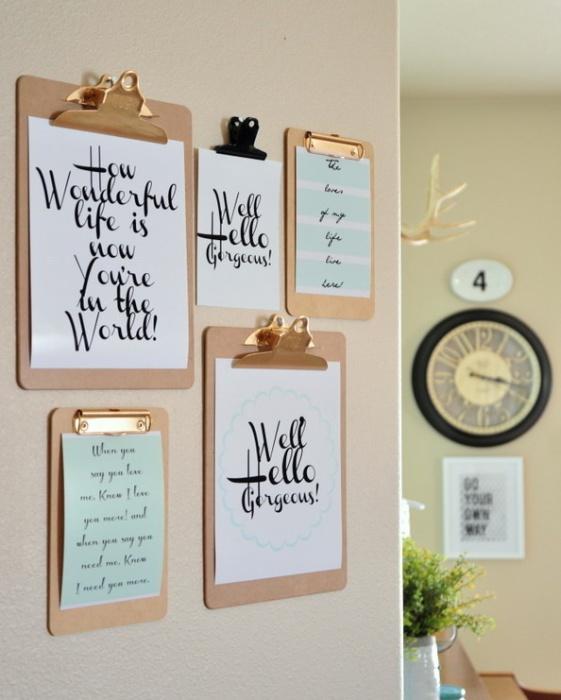 Ways-Transform-Your-Walls-18 Декор стен своими руками: 9 красивых идей, 50 фото