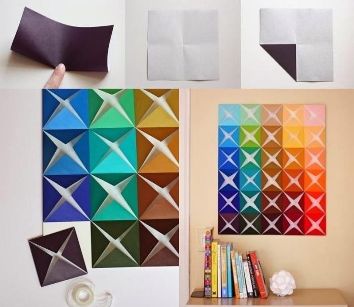Оригами в качестве украшения для стен.