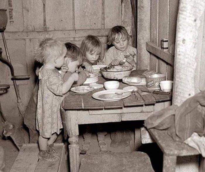 Рождественский ужин из репы и капусты.