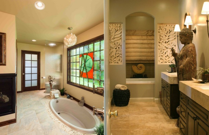 10 способов обустроить ванную комнату в восточном стиле.