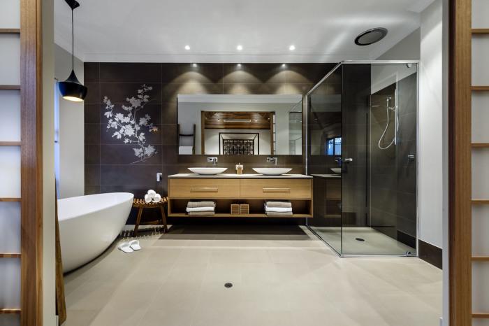 Восточное изящество в дизайне ванной комнаты.