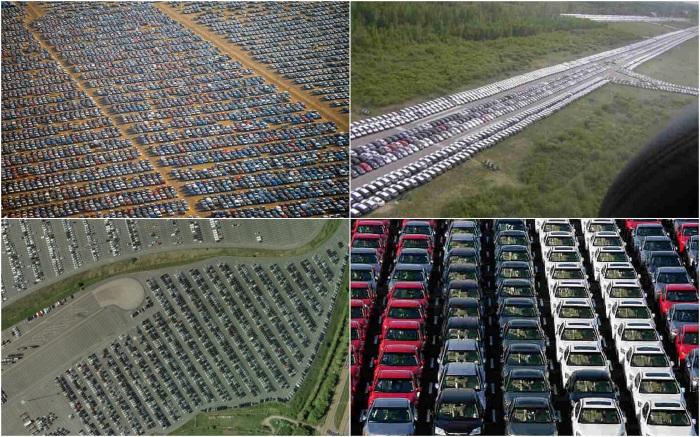 Кладбища брошенных автомобилей.