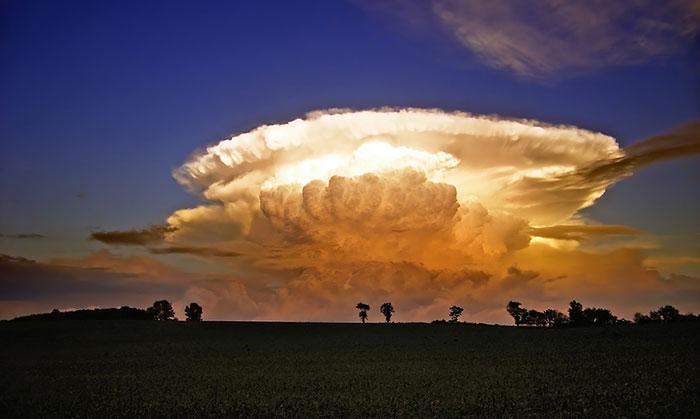 Взрыв на небе.