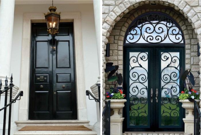 Примеры дизайна входных дверей.