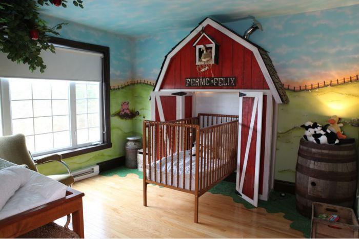 Комната для маленьких фермеров.