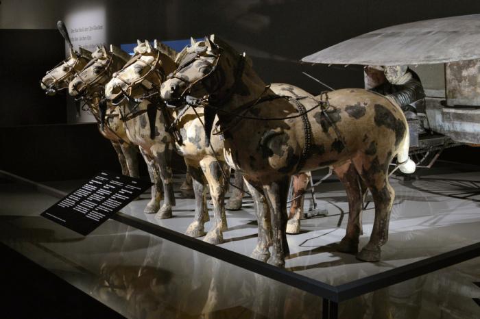 Вместе с императором было похоронено около 8000 тысяч статуй лошадей и воинов в реальную величину.