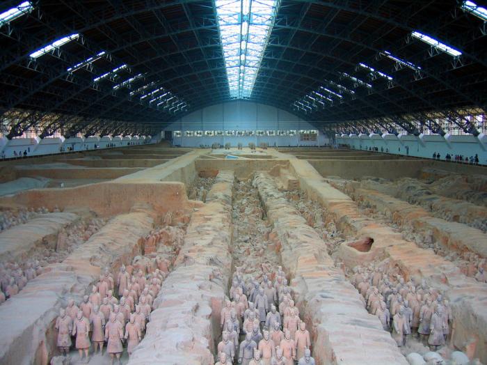 Музей на месте усыпальницы императора Цинь Шихуана.