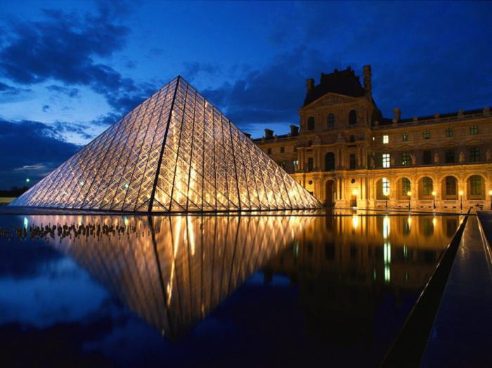 Музей Лувр в Париже.