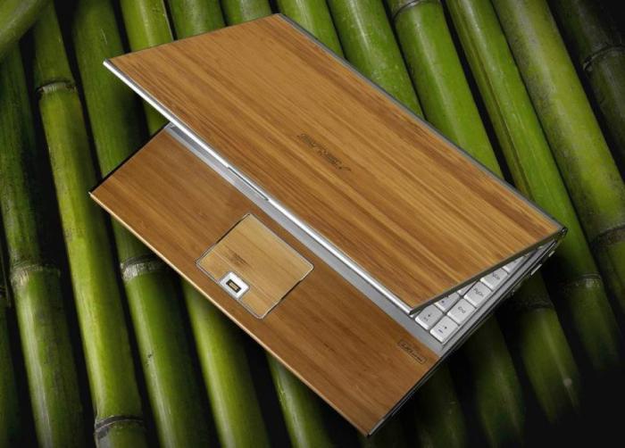 Прочный и долговечный ноутбук с корпусом из бамбука.