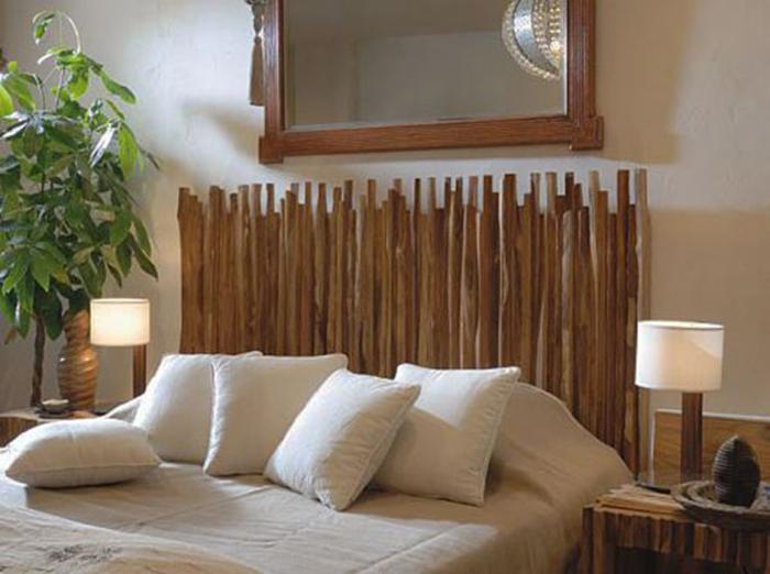 Отличный вариант недорогого и красивого изголовья кровати.