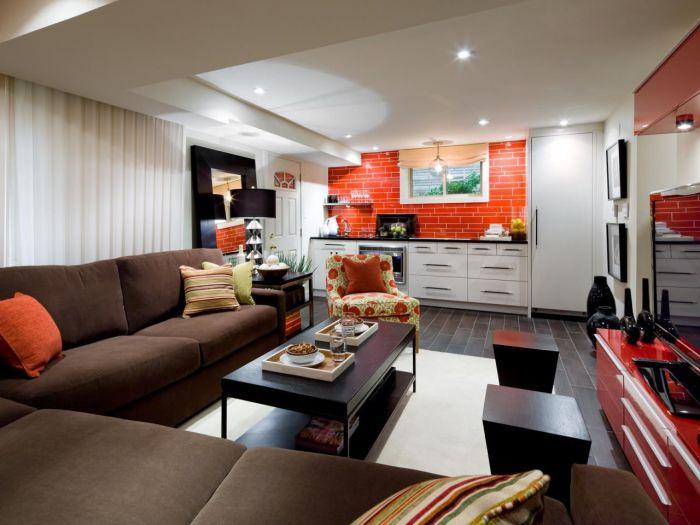 Замечательная комната для отдыха в стиле «»модерн.