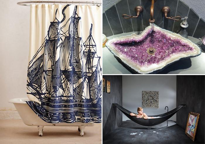 Удивительные дизайнерские решения для ванной комнаты.
