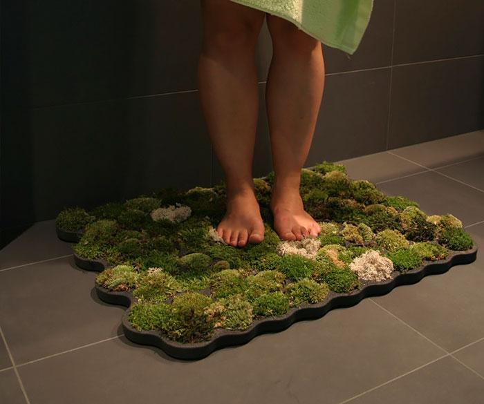 Эко-коврик для ванной комнаты.