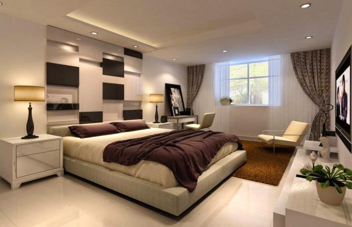 Интерьер черно-белая комната