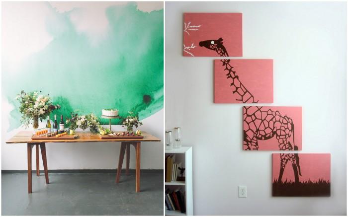 Восхитительные идеи для декора стен.