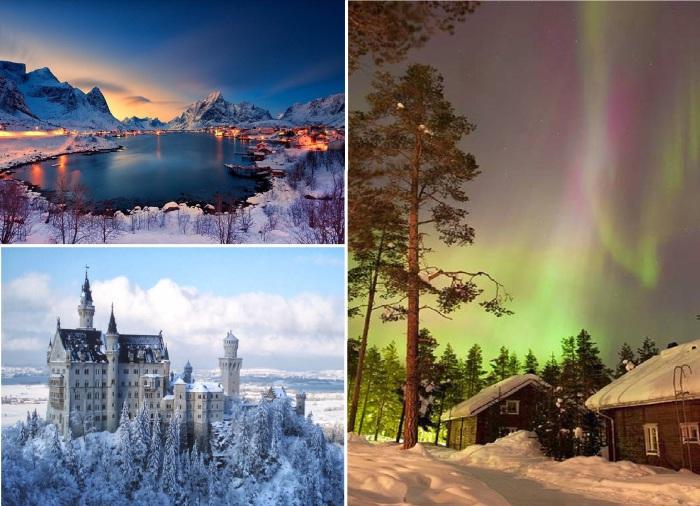 Красочные места для зимнего отдыха.