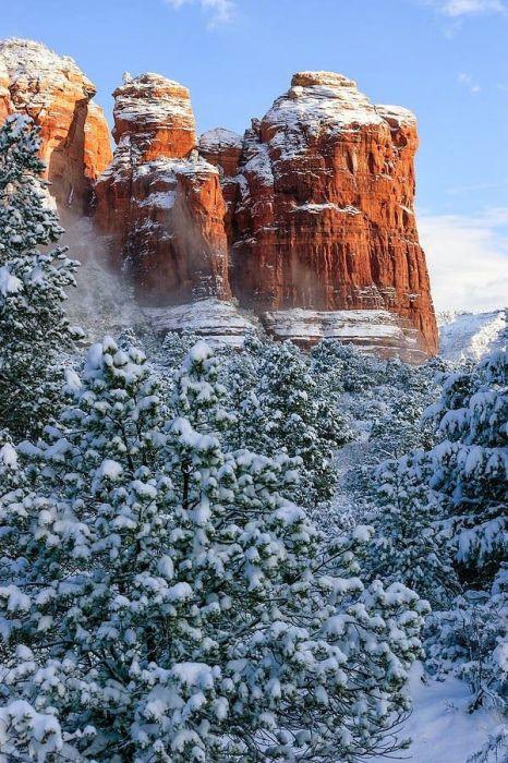 Скала в штате Аризона, США.