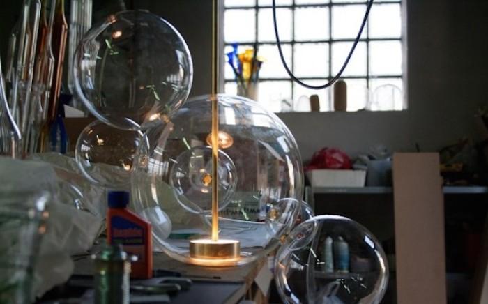Лампа в виде мыльных пузырей.