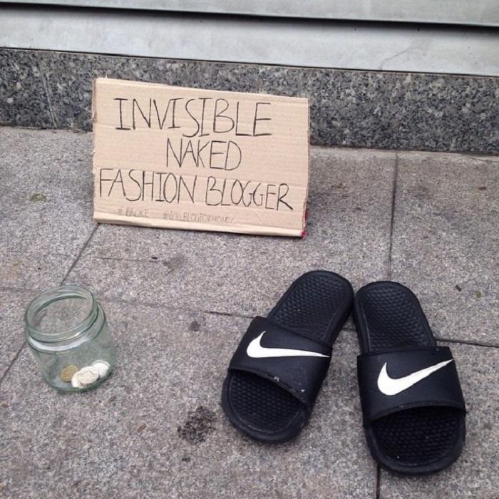 «Невидимый фэшн-блогер в обнаженном виде».