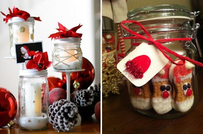 Необычные новогодние подарки из ненужных стеклянных банок.