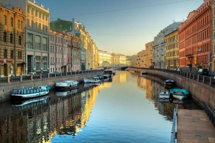 Красочный город в России.