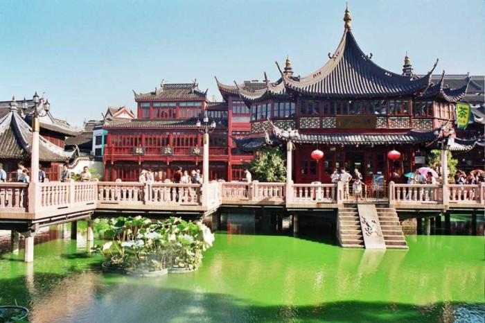 Аутентичный город в Китае.