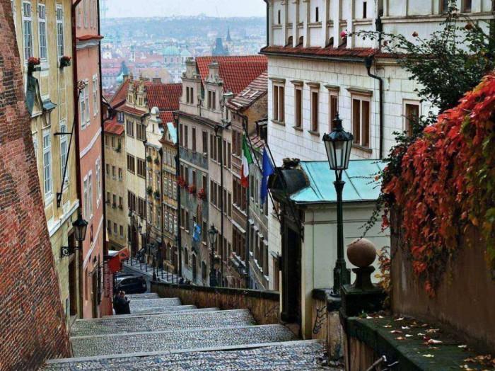 Древний город в Чехии.