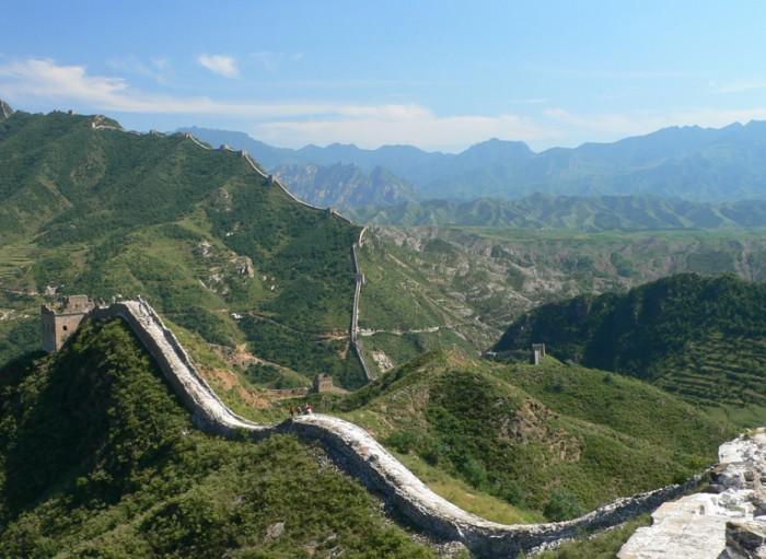 Великая китайская стена близ Пекина.