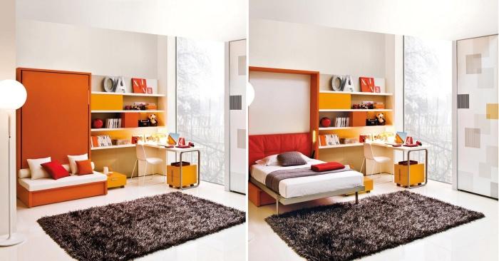 Великолепные примеры мебели, позволяющей сэкономить место в маленьких детских комнатах.