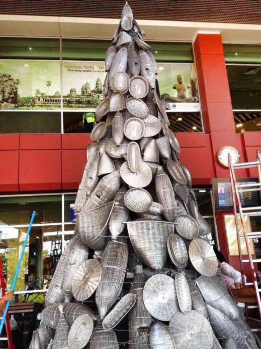 Необычная новогодняя елка.