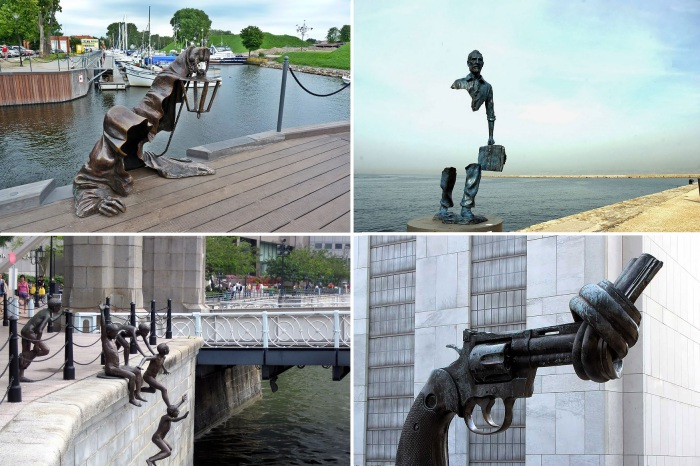 Необычные скульптуры со всего мира.