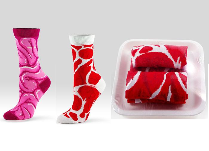 Носки в виде внутренностей.