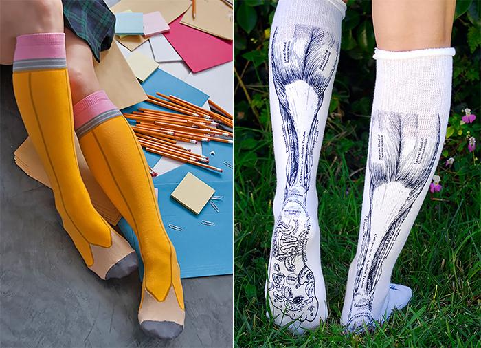 Необычные носки.