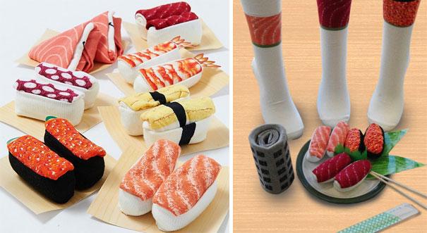 Интересный японский обед из хлопковых носков.