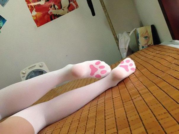 Чулки ступни