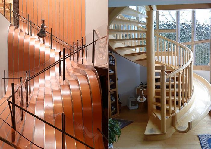 Оригинальные лестницы для дома.
