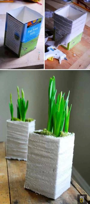 Доступный и простой способ получить новое кашпо для растений.