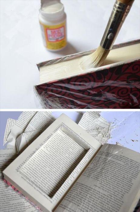 Книжка с секретным отделением для хранения мелочей.