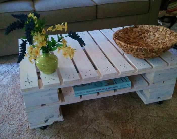 Аккуратный кофейный столик.
