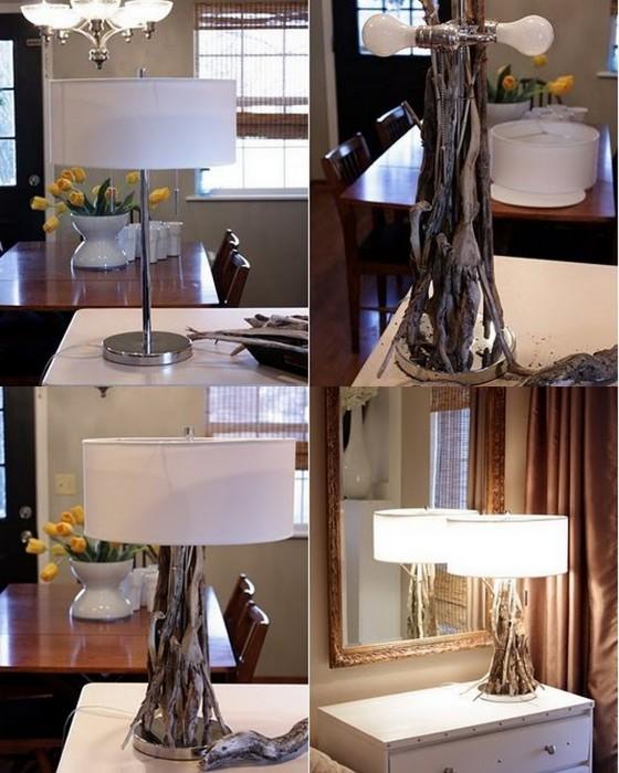 Преображение обычной лампы в уникальный аксессуар для дома.